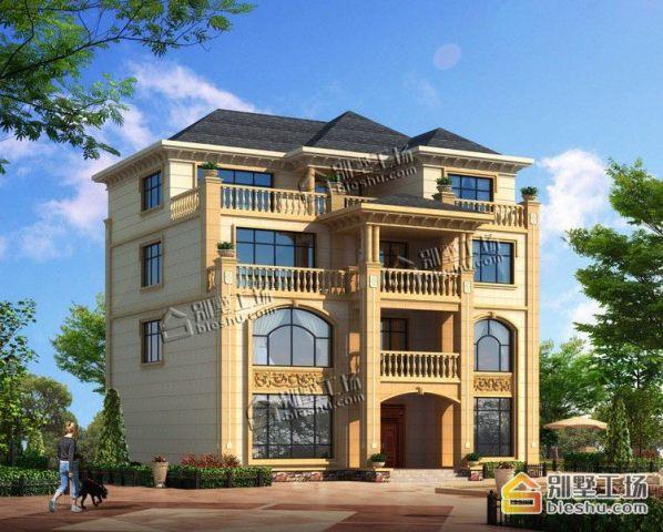 占地16x15四层复式客厅自建别墅设计全套施工图