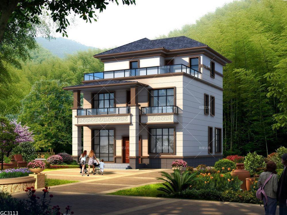 占地10x13三层小户型自建别墅设计全套施工图