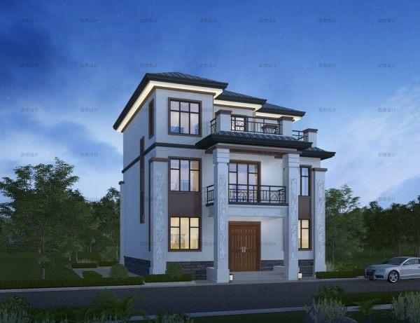 占地11x12三層自建別墅設計全套施工圖
