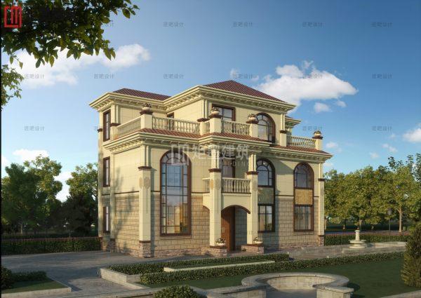 占地17x9三层自建别墅设计全套施工图