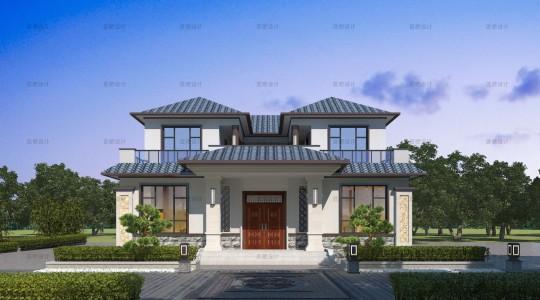 占地13x14二层自建别墅设计全套施工图