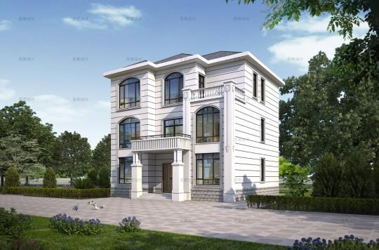 占地12x11三层自建别墅设计全套施工图