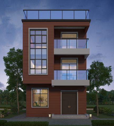 占地7x12三層自建別墅設計全套施工圖