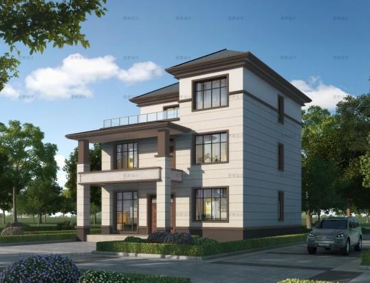 占地11x13三层自建别墅设计全套施工图