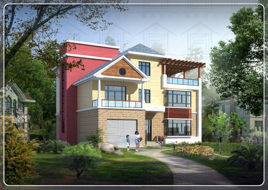 占地15x16三层自建别墅设计全套施工图