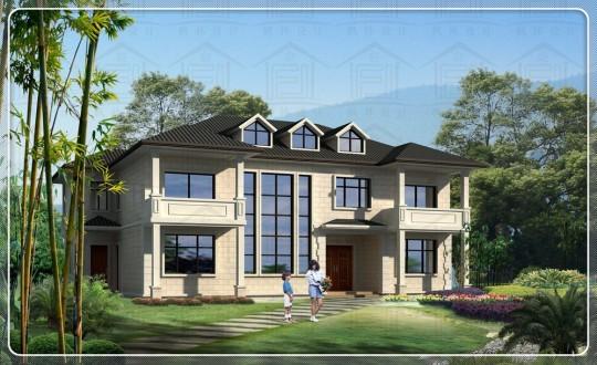 占地20x14二层自建别墅设计全套施工图