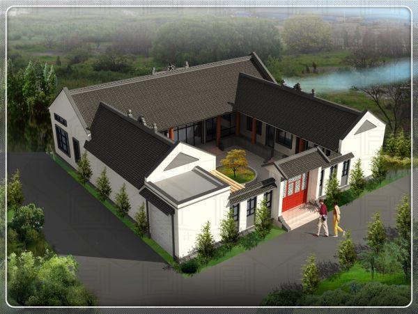占地20x20一层自建别墅设计全套施工图