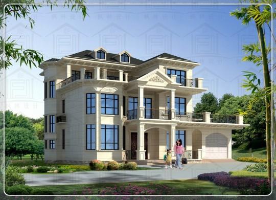 占地19x14三层自建别墅设计全套施工图