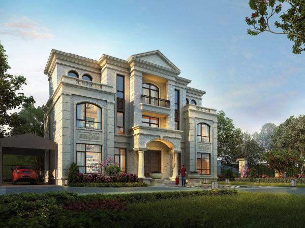 占地17x12三层自建别墅设计全套施工图