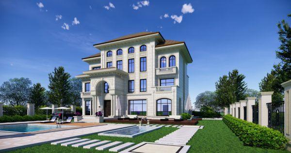 占地18x12三层自建别墅设计全套施工图