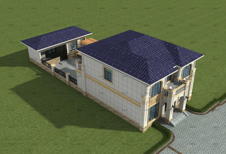 歐式二層別墅設計圖效果圖