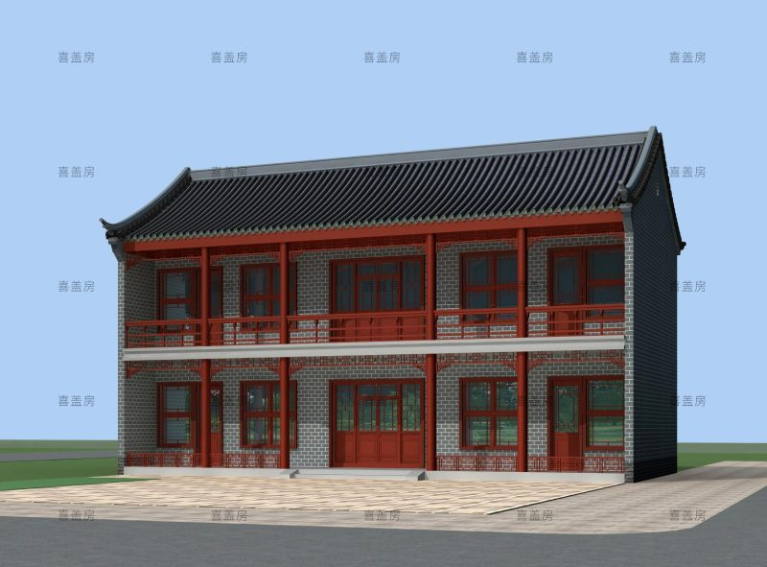 17x8二层别墅设计全套图纸