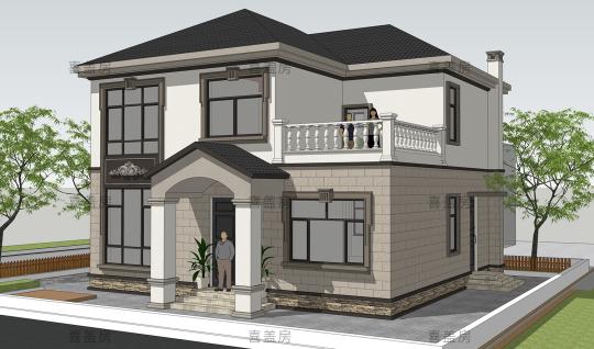 11x9二层别墅设计全套图纸