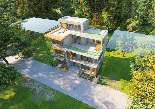 13x8三层别墅设计全套图纸