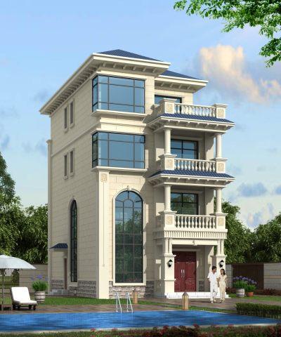 7x14四层别墅设计全套图纸