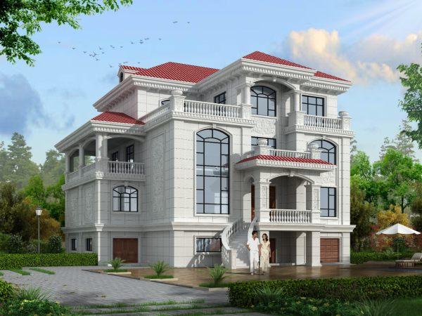 16x16四层别墅设计全套图纸
