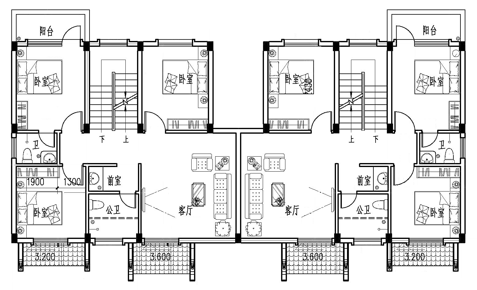 中式三层别墅设计图平面图