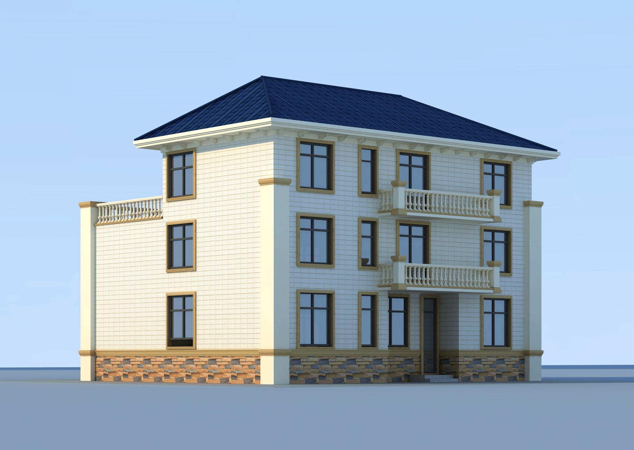 歐式三層別墅設計圖效果圖