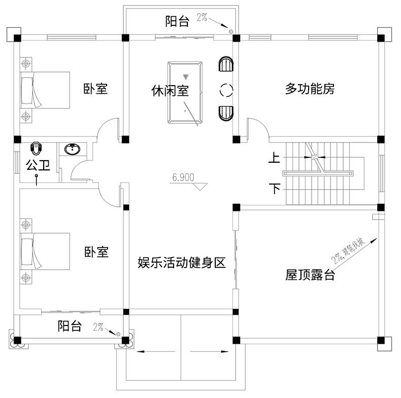 歐式三層別墅設計圖平面圖