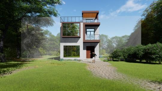 8x13三层别墅设计全套图纸
