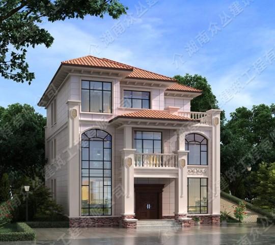 三层468平方建筑面积欧式别墅 开间12.2米