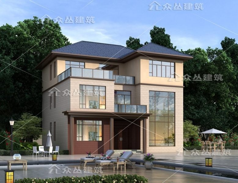 新款三层经典欧式轻奢别墅设计图纸占地160平