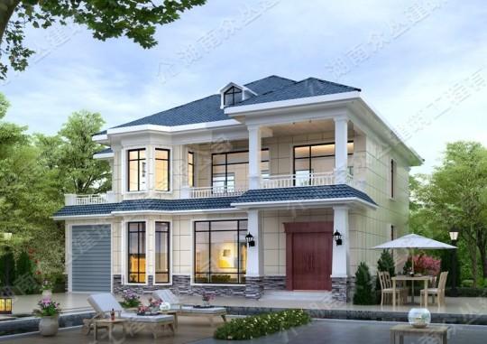 精致二层简欧乡村别墅施工及设计效果图纸