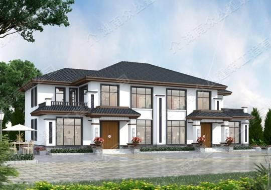 新款中式占地292平方农村自建房设计图纸