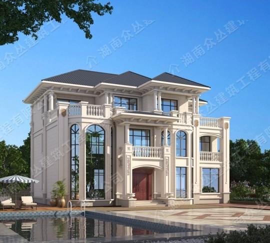 三层欧式高端农村住宅设计占地190平方