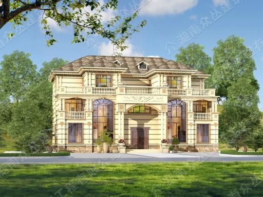 建筑面积1000平方 欧式兄弟双拼超大户型别墅