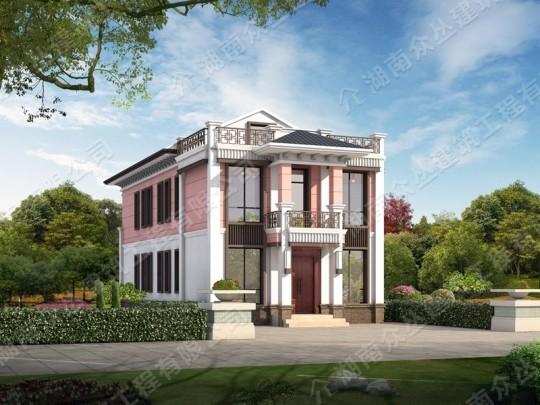 二层新中式140平乡村小别墅设计图纸