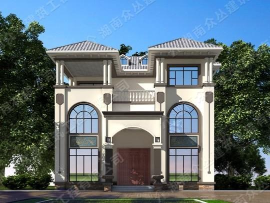 新款3层经典欧式轻奢别墅占地144平方