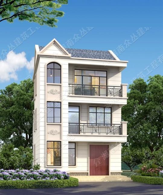 新品30万别墅欧式三层占地97.2平方