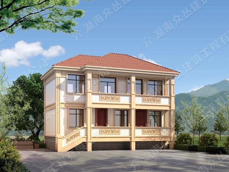 欧式风格开间11.8米进深6米小户型别墅