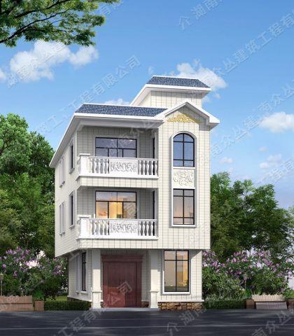 新款欧式别墅图纸农村80平小面积自建房设计
