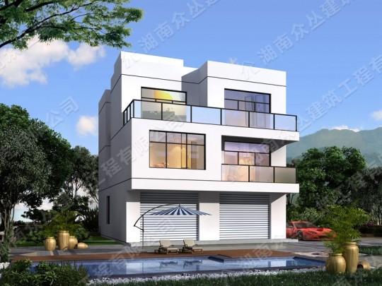 农村三层现代风格平房设计图及效果图
