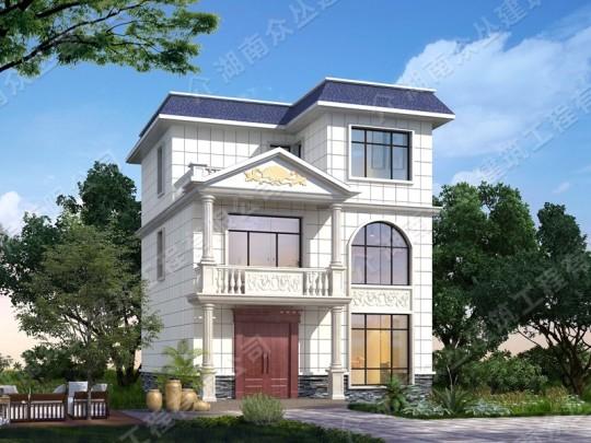 经典户型新农村30万别墅三层设计新款效果图