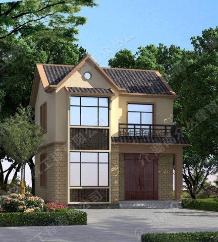 漂亮实惠新中式小面积二层农村别墅