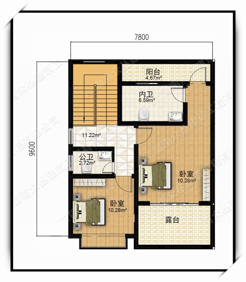 中式二层别墅设计图平面图