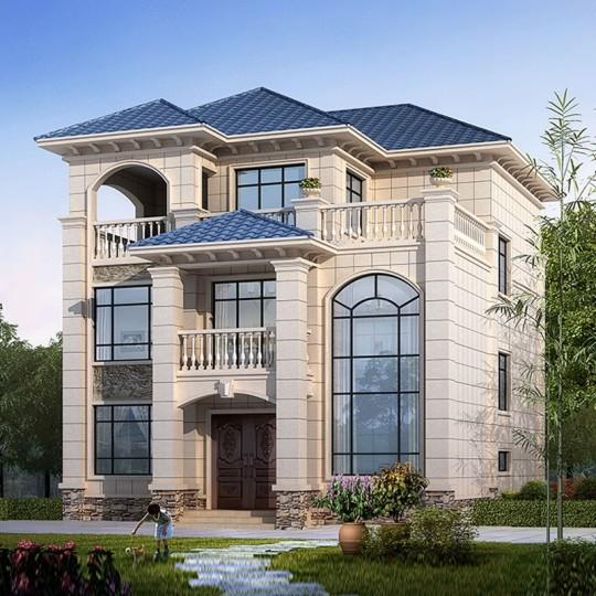 占地10x13三层自建别墅设计全套施工图