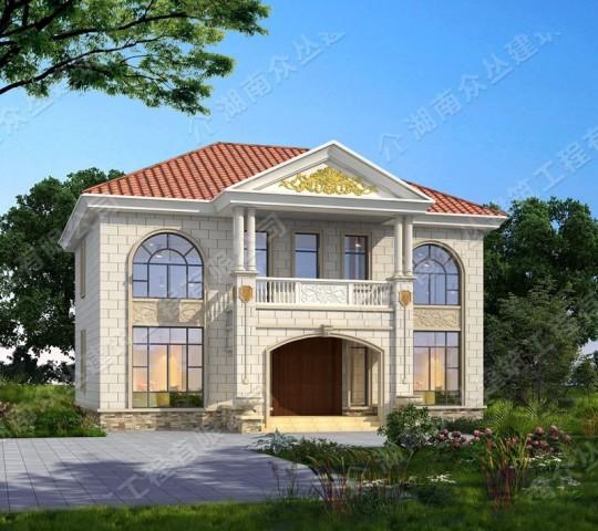 占地14X10米二层欧式风格自建别墅,好看时尚,倍有面儿!