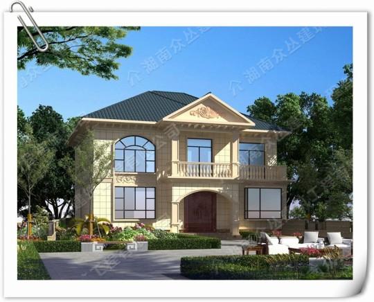 全套农村二层欧式风格别墅设计图纸