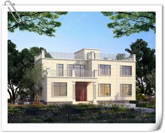 农村二层现代小别墅设计图 造价30万