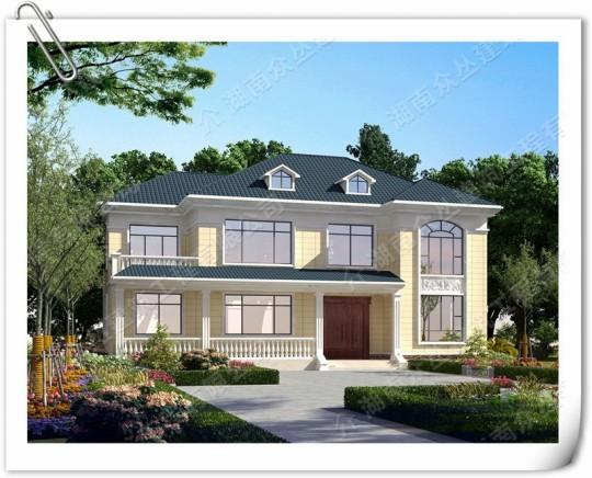 新农村简约风格二层别墅设计效果图纸