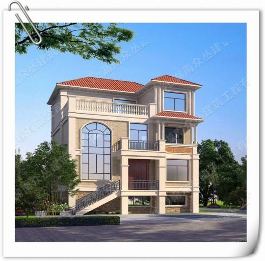 乡村三层房屋设计图 12X12米