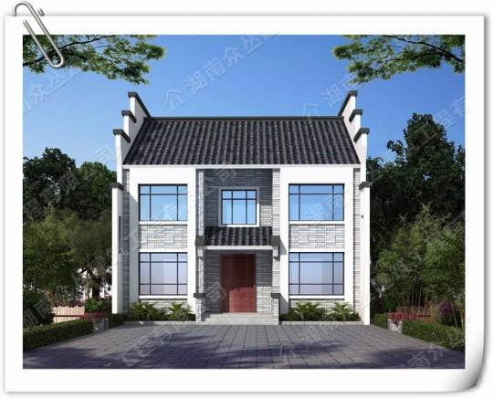 二层新中式院落别墅设计图,新时代的农村住宅