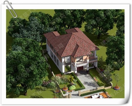 二层新中式农村自建小别墅设计图 施工图纸全套