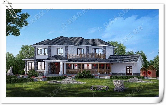 60W中式别墅 农村自建房