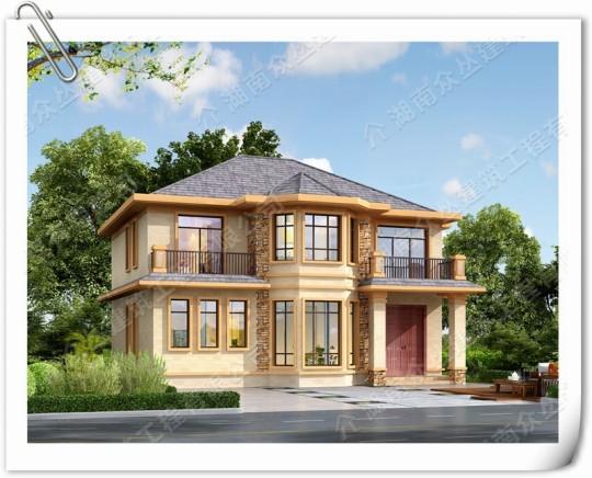 120平二层别墅房屋设计图带露台