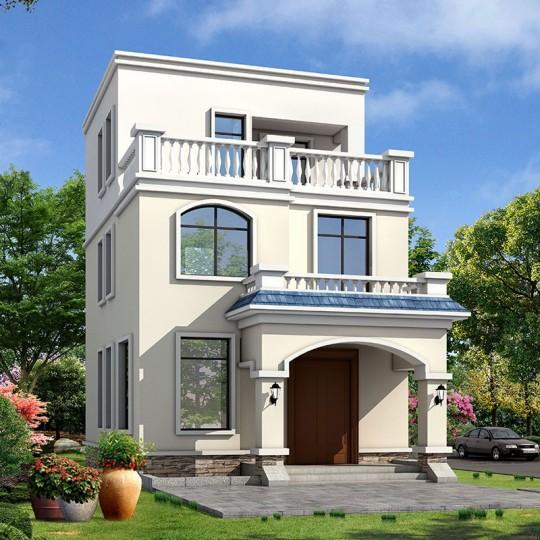 占地6x11三层自建别墅设计全套施工图